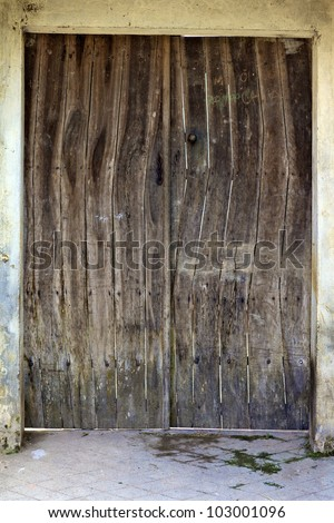 Old Wooden Shutter Window On Rustic Stock Photo 95804188 ...