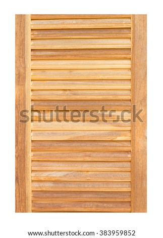 wooden door isolated on white backgground - stock photo