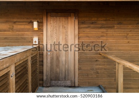 Wooden door, natural material home