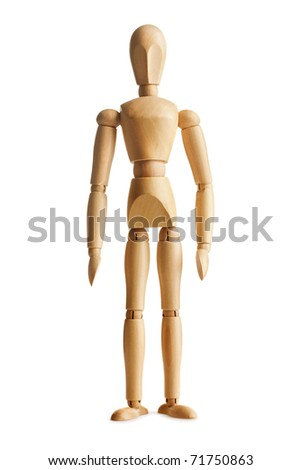 wooden dummy - stock photo