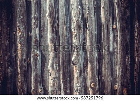 Wooden fence background board close-up