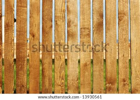 wooden fence closeup - stock photo