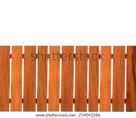 Wooden fence isolated on white background this has clipping path. - stock photo