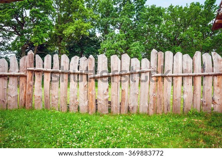 Wooden fence planks