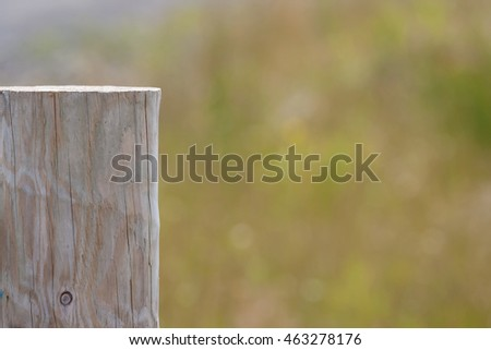 wooden fence post top