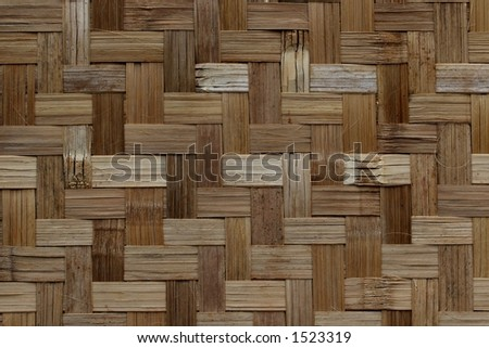 Wooden fibre. L-shaped mosaic