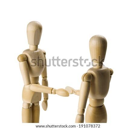 Wooden figure - stock photo