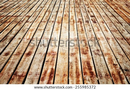 wooden floor background - stock photo
