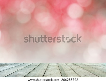 Wooden floor with blur sky background - stock photo