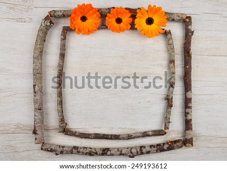 Wooden frame - stock photo