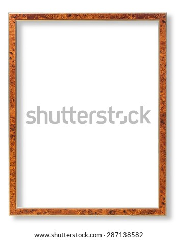 Wooden frame for paintings or photographs.with clipping path - stock photo