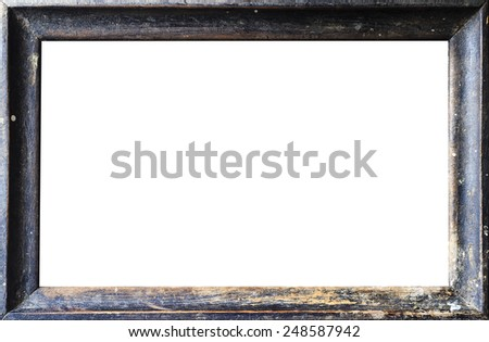 Wooden frame for picture or painting. - stock photo