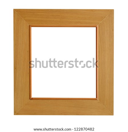 wooden frame isolate on white