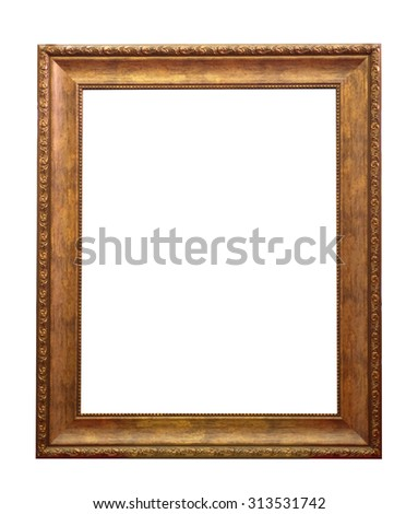 wooden frame isolated on a white background - stock photo