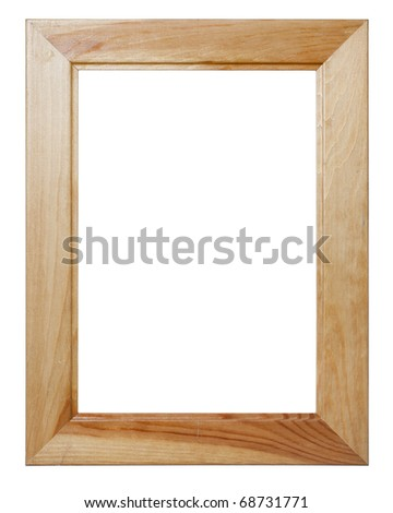 Wooden frame. Isolated over white. - stock photo