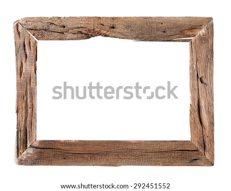 wooden frame rustic wood frame isolated on the white background
