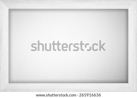Wooden frame wall background - stock photo