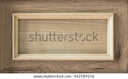 wooden frame walnut