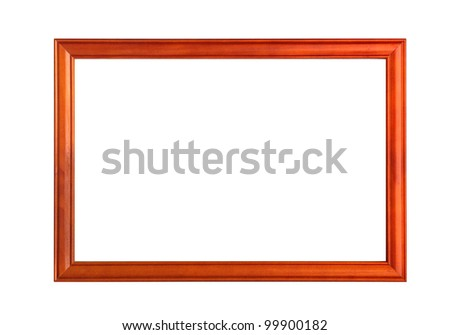 wooden frames on white background - stock photo