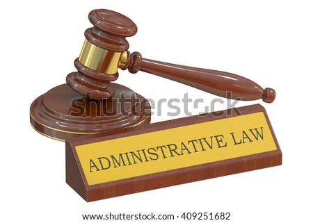Wooden gavel, Administrative law concept. 3D rendering - stock photo