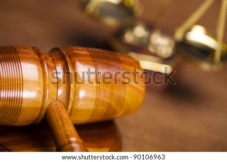Wooden gavel barrister, law