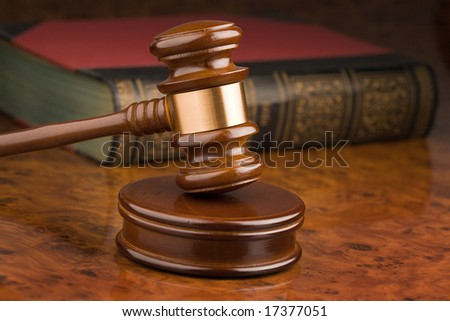 Wooden gavel - symbol for jurisdiction - stock photo