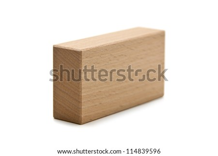 wooden geometric shapes parallelepiped  isolated on a white background - stock photo