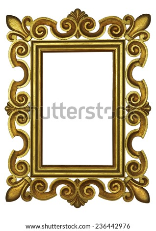 Gold Scroll Picture Frame Stock Photo 34842001 Shutterstock