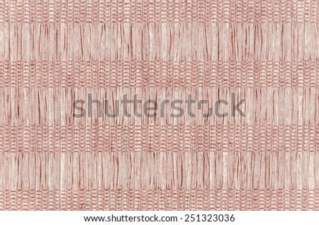 Wooden grid background of braided wood