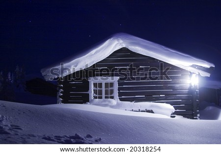 wooden house 2 - stock photo