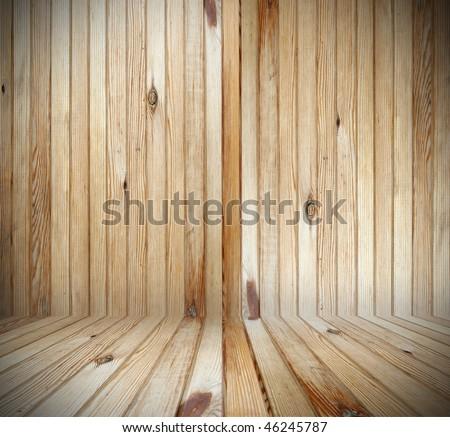 wooden interior - stock photo