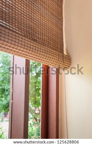 wooden jalousie - stock photo