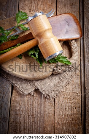 Wooden kitchen equipment
