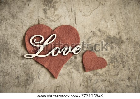 Wooden letters LOVE/Valentines day background - stock photo