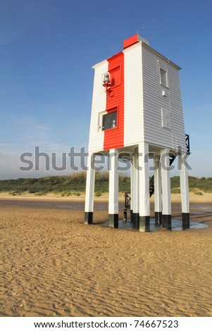 Wooden Lighthouse at Burnham On Sea, Somerset