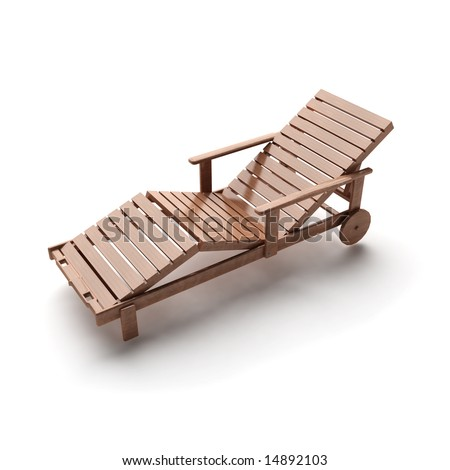 wooden lounge - stock photo