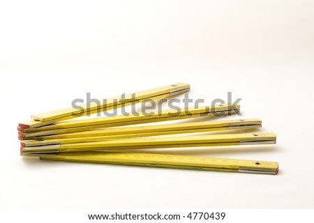 wooden measuring tool - stock photo