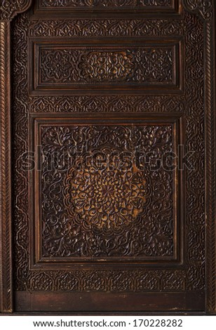 Wooden Moroccan Architecture Engrave