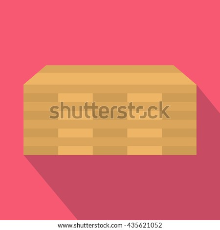 Wooden pallets icon, flat style - stock photo