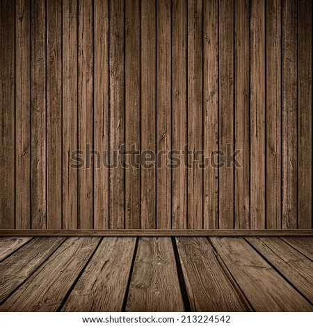 Wooden panel wall interior background - stock photo