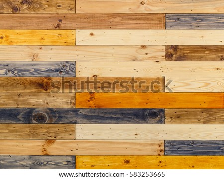 Wooden Panels Wall Background Different Types Stock Photo (Royalty ...