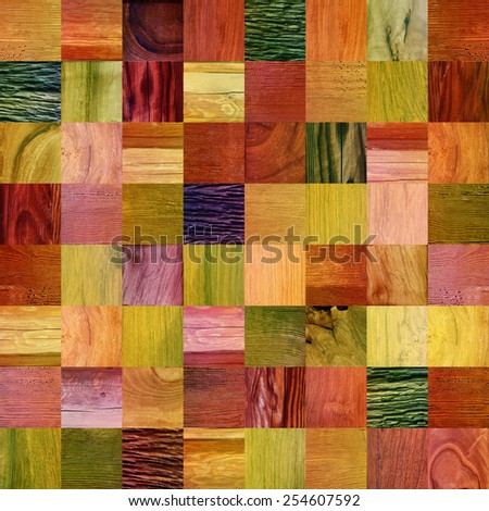 wooden patterns - different colors - seamless background - stock photo