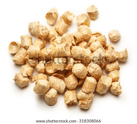 Wooden pellets for cat's toilet as background