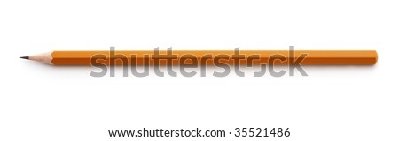 wooden pencil - stock photo