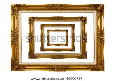 wooden photo frame isolate - stock photo