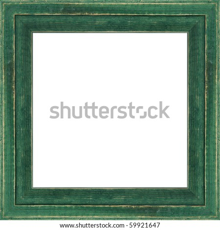 Wooden photo frame, isolated - stock photo