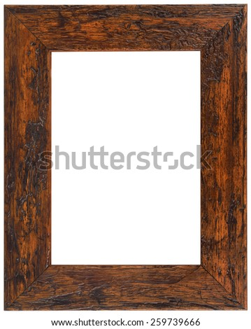 Wooden Picture Frame Isolated with Clipping Path - stock photo