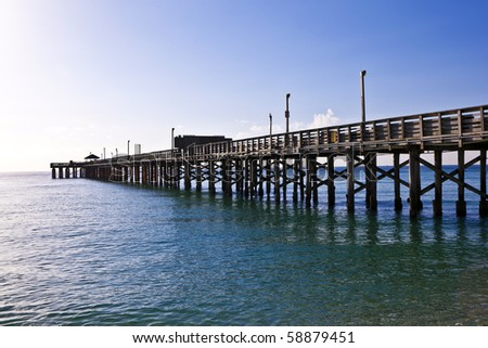 wooden pier at miami beach