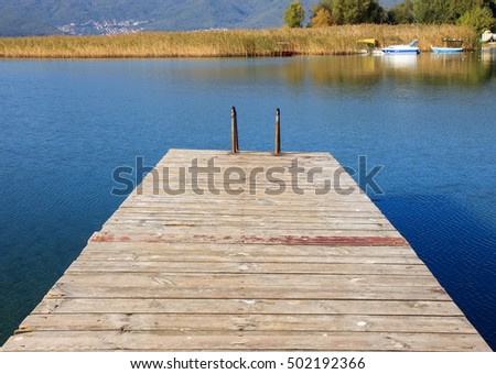 Wooden pier on the Ohrid lake, FYRM (Macedonia)