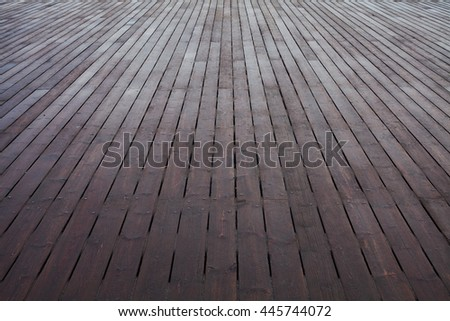 Wooden pier. Perspective. Copy-space. Outdoor shot